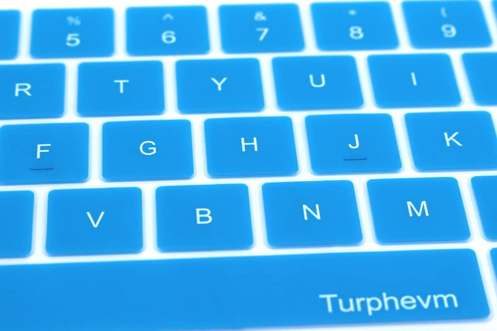 Sky Blue 2016//2017 Version Turphevm Ultra Thin Silicone Keyboard Protector Skin for Macbook Pro with Touch Bar 13 A1706 and Macbook Pro 15 A1707 Keyboard Cover