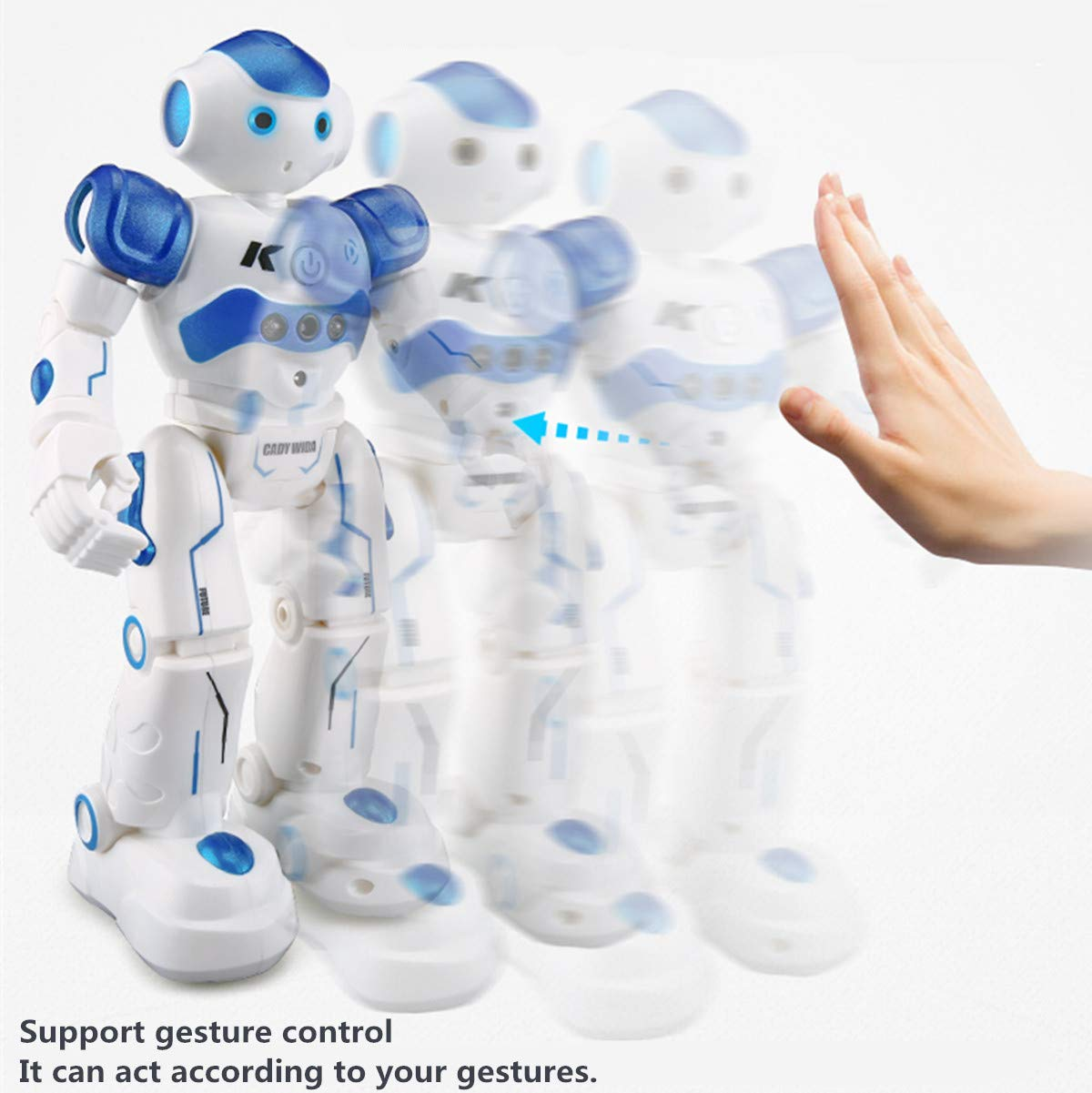 WEECOC Smart Robot Toys Gesture Control Remote Control Robot Kids Toys Birthday Can Singing Dancing Speaking Two Walking Models (White) by WEECOC (Image #5)