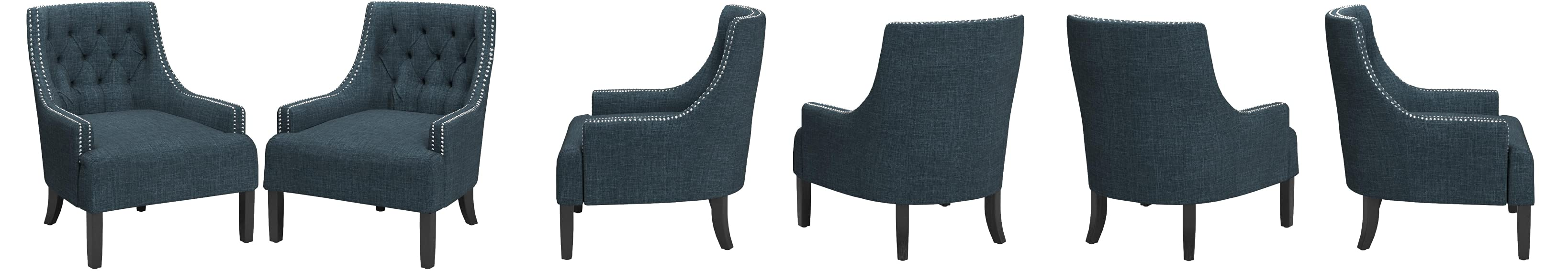 Magnificent Charisma Indigo Accent Chair Creativecarmelina Interior Chair Design Creativecarmelinacom