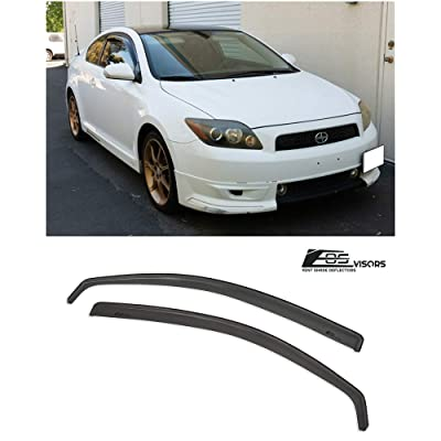 Extreme Online Store for 2005-2010 Scion tC Gen 1 | EOS Visors in-Channel Style JDM Smoke Tinted Side Vents Window Deflectors Rain Guard: Automotive