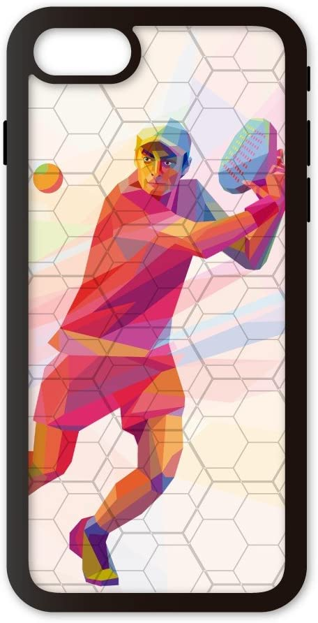 PHONECASES3D Funda móvil Compatible con iPhone 7/Compatible con iPhone 8 Padel Volea. Carcasa de TPUde Alta protección. Funda Antideslizante, Anti choques y caídas.