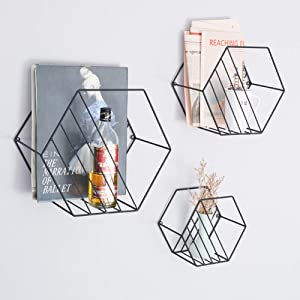 FF&XX Wall Mounted Magazine Holder,Decorative Magazine Rack Gift Display Rack Wrought Iron Metal Book Rack Over The Door Hanging File Organizer-a 30x17x26cm(12x7x10)