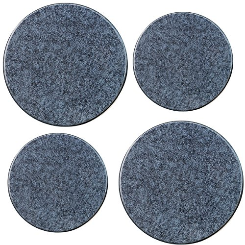 Black Granite Top Set - Reston Lloyd Electric Stove Burner Covers, Set of 4, Black Granite