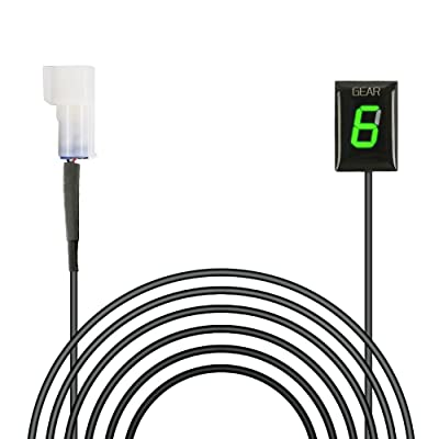 Idea Waterproof Motorcycle Gear Indicator Plug & Play LED Display for Kawasaki (Green): Automotive