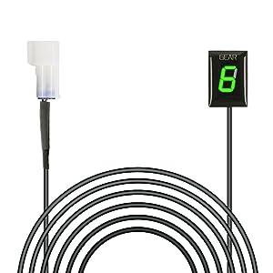 IDEA Waterproof Motorcycle Gear Indicator Plug & Play LED Display for Kawasaki (Old Year Model, Green)