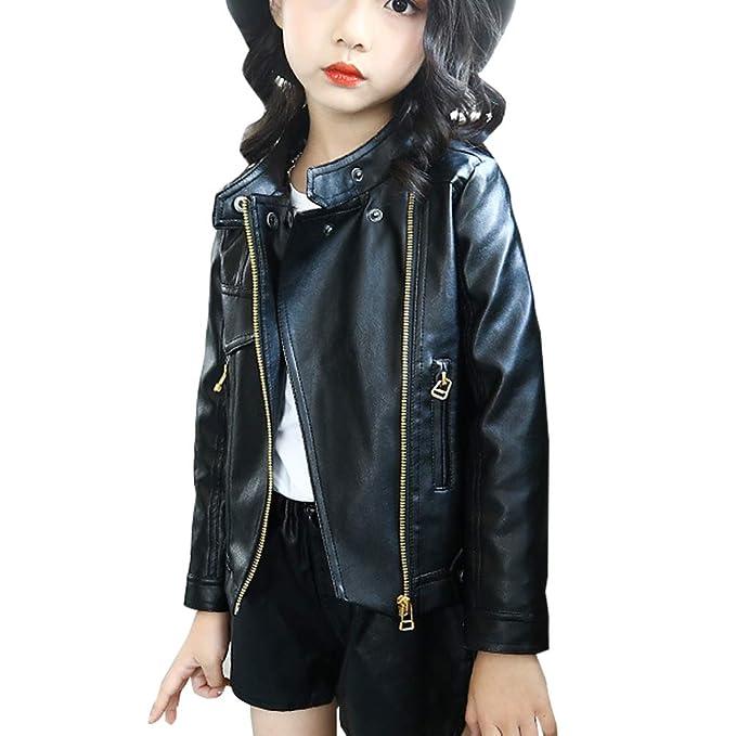 MissChild Giacca a vento autunno inverno ragazze - Giubbotti finta pelle  moto - Giacche ecopelle manica lunga - Cappotti per Bambini  Amazon.it  ... b81e3b24dd9