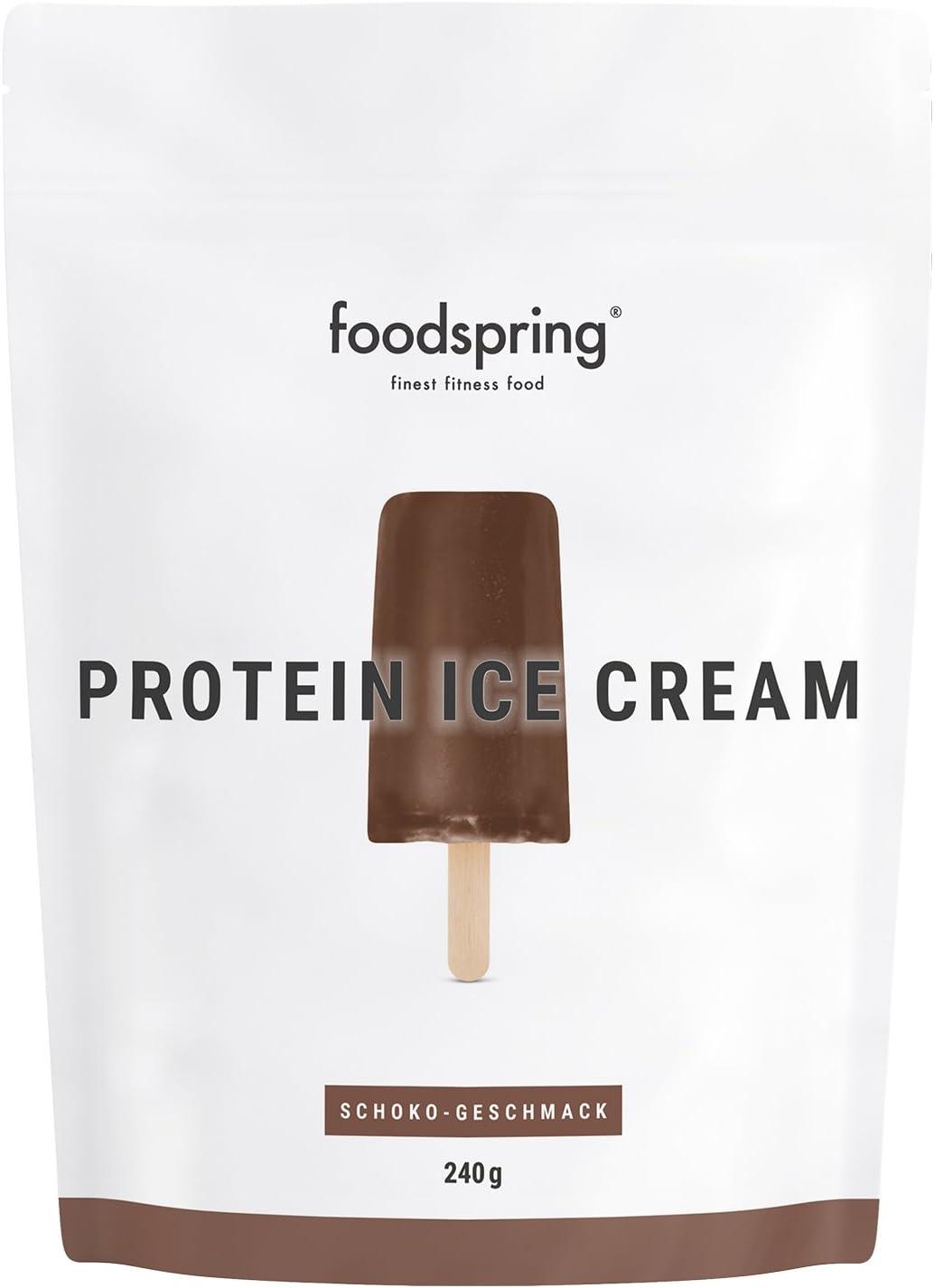 foodspring Helado Proteico, Chocolate, 240g, Tu polo de ...