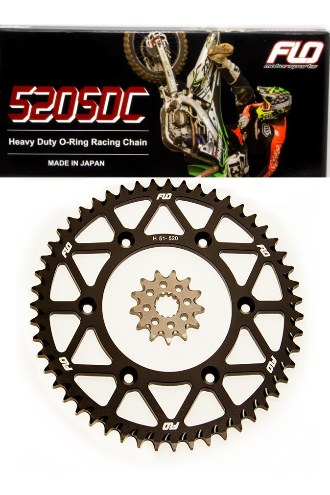 50T, RED 51 52 and 53 RED and BLACK FLO MOTORSPORTS O-RING Chain /& Sprocket Combo KIT SUZUKI RM-Z450 Front Sprocket 13 Tooth//Rear Sprocket 50