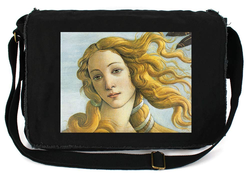 Tenacitee Venus Botticelli Royal Blue Brushed Canvas Messenger Bag