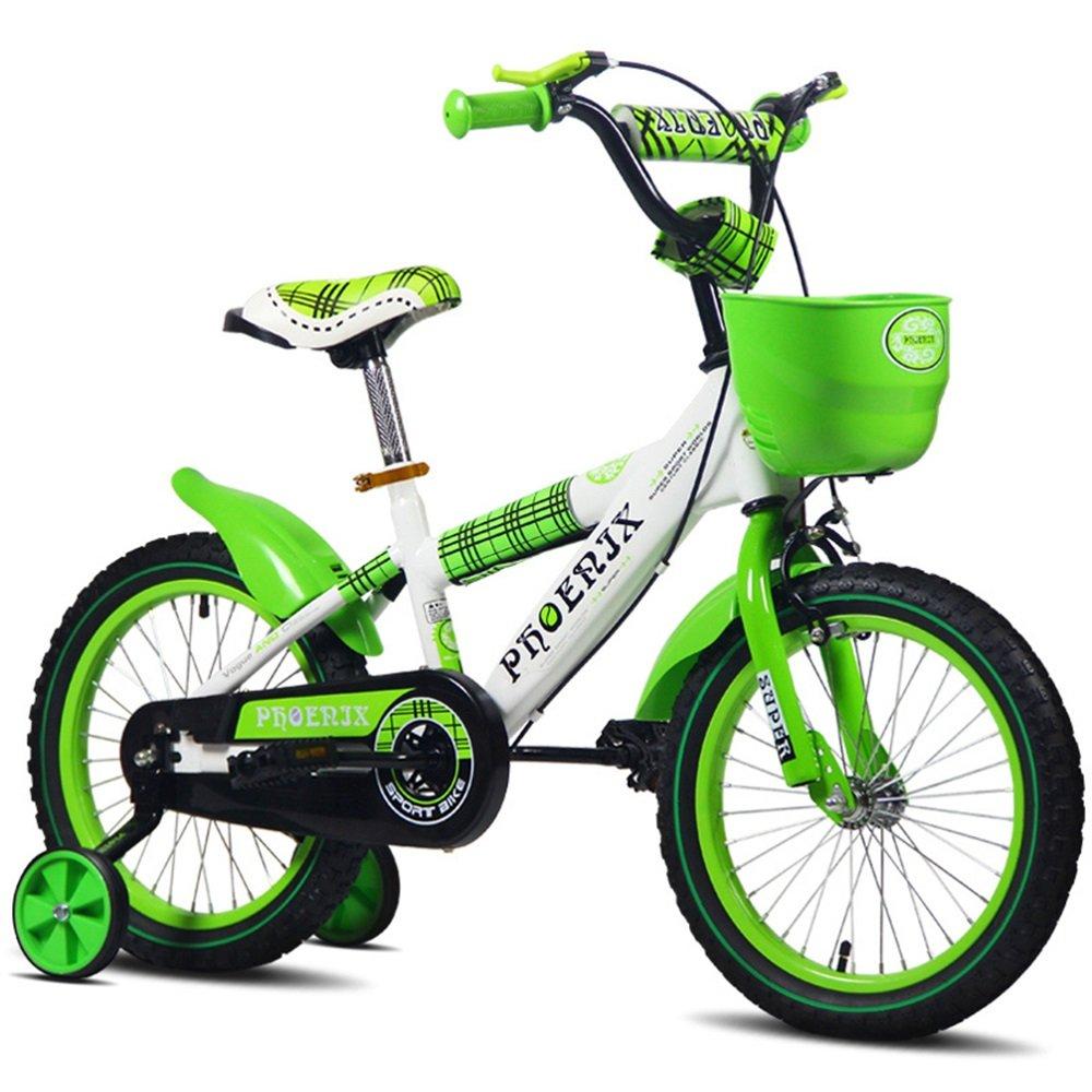 子供のバイク、赤ちゃんの少女サイクリング、子供の男の子のベビーカー ( 色 : 緑 , サイズ さいず : 120cm ) B078KT1WF5 120cm|緑 緑 120cm