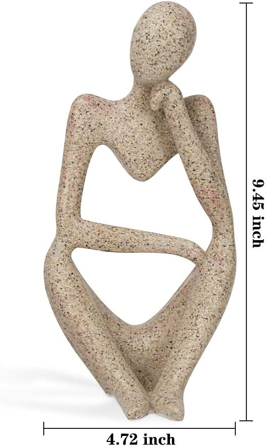 Abstract White Sandstone People Figurines Statue Sculpture Home Decor #2