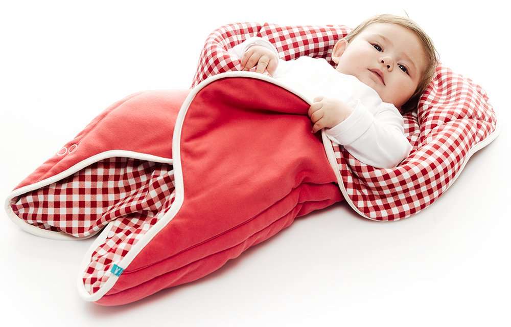 Newborn to 10 months Crib Car Seat Colour: Vichy Red Exclusive Flower shape 85 x 85 cm Wallaboo Baby Blanket Fleur Moses Basket Travel 34 x 34inch For Pram Supersoft 100/% Cotton
