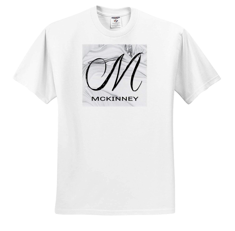 T-Shirts 3dRose BrooklynMeme Monograms McKinney White Marble Monogram M