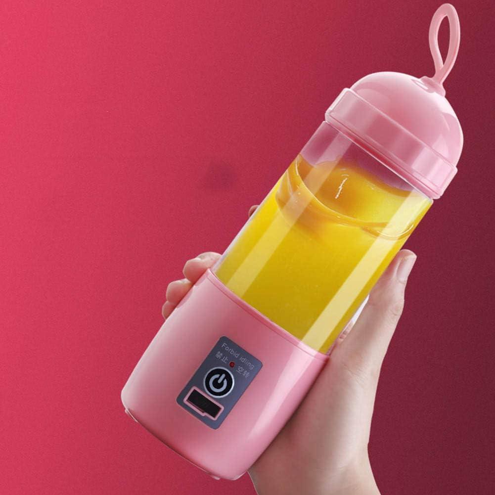 Tragbarer Mixer Elektrische Entsafter Für Zitronen, 260 Ml Automatisch Mehrzweck USB Wiederaufladbar Mischer Schneiden, Mini Saft Cu Für Studierende,Rosa Pink