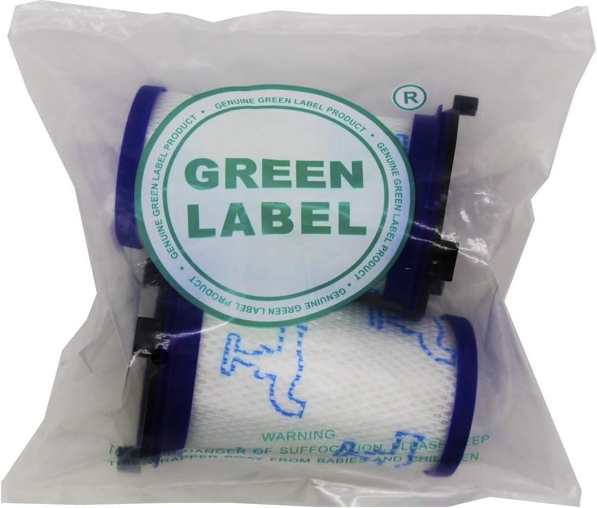 Green Label Empaque de 2 Filtro de Espuma para los Aspiradores Escoba Rowenta y Tefal Air Force 360. Reemplaza a ZR009001