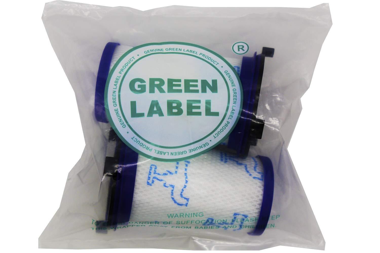 Produit Authentique de Green Label Lot de 2 Filtres en Mousse pour les Aspirateurs Rowenta et Tefal Air Force 360 Alternative à ZR009001