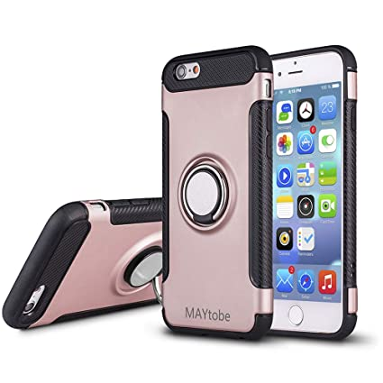 Amazon.com: MAYtobe iPhone 6S Plus Funda Suave - 360 Grados ...