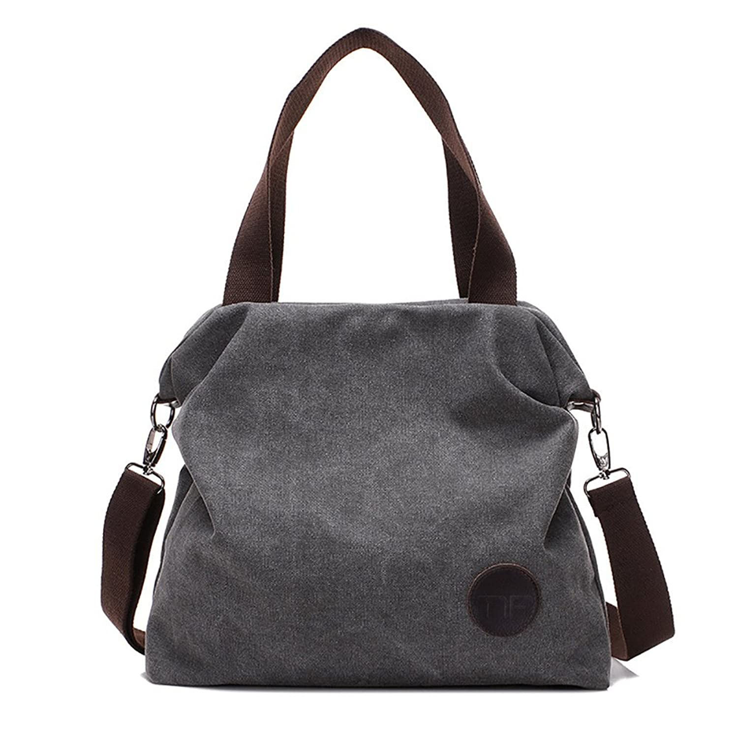 Mfeo Women Casual Canvas Shoulder Bags Cross Body Bag Messenger Tote