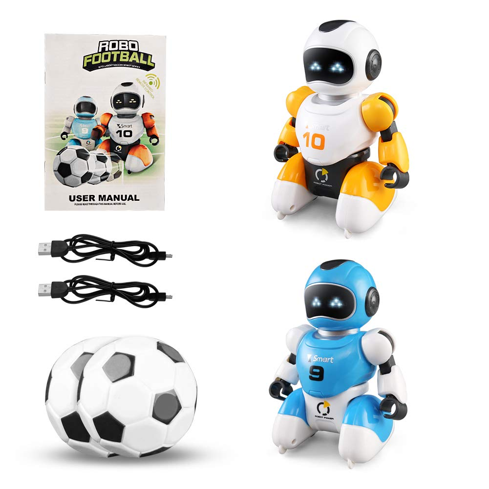 bluee&yellow Aomeiqi Remote Control Robot Toy, kids interactive robot soccer toys Dancing Walking Singing Cool Toys Gifts for 310 Year Olds Girls Boys (bluee&Yellow)