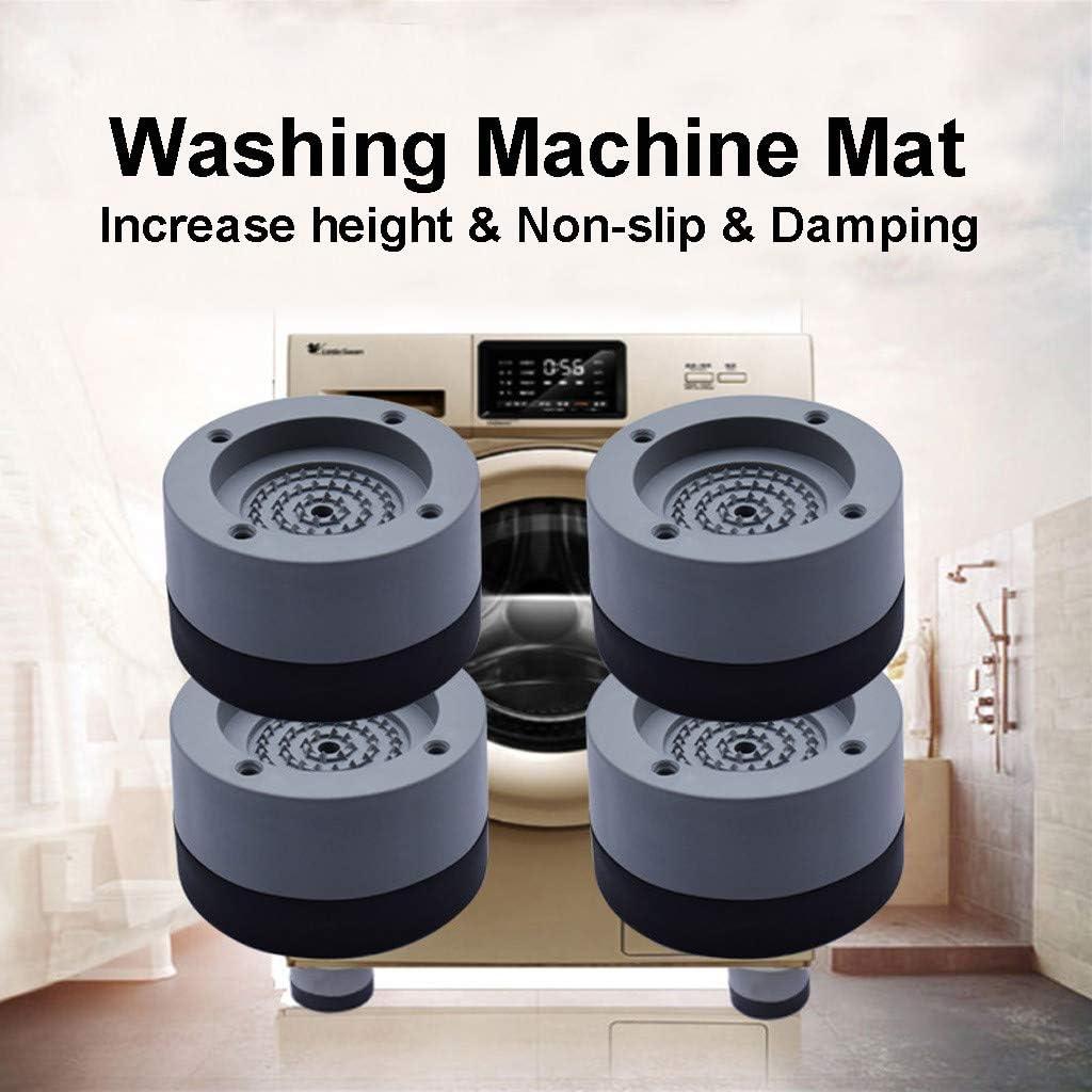 4pcs Anti-Vibration Pad,Fheaven Universal Fixed Non-slip Damping Washing Machine Rubber Mat Anti-Vibration Pad Gray