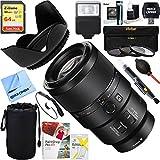 Sony SEL90M28G - FE 90mm F2.8 Macro G OSS Full-frame E-mount Macro Lens + 64GB Ultimate Filter & Flash Photography Bundle