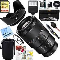Sony (SEL90M28G) - FE 90mm F2.8 Macro G OSS Full-frame E-mount Macro Lens + 64GB Ultimate Filter & Flash Photography Bundle