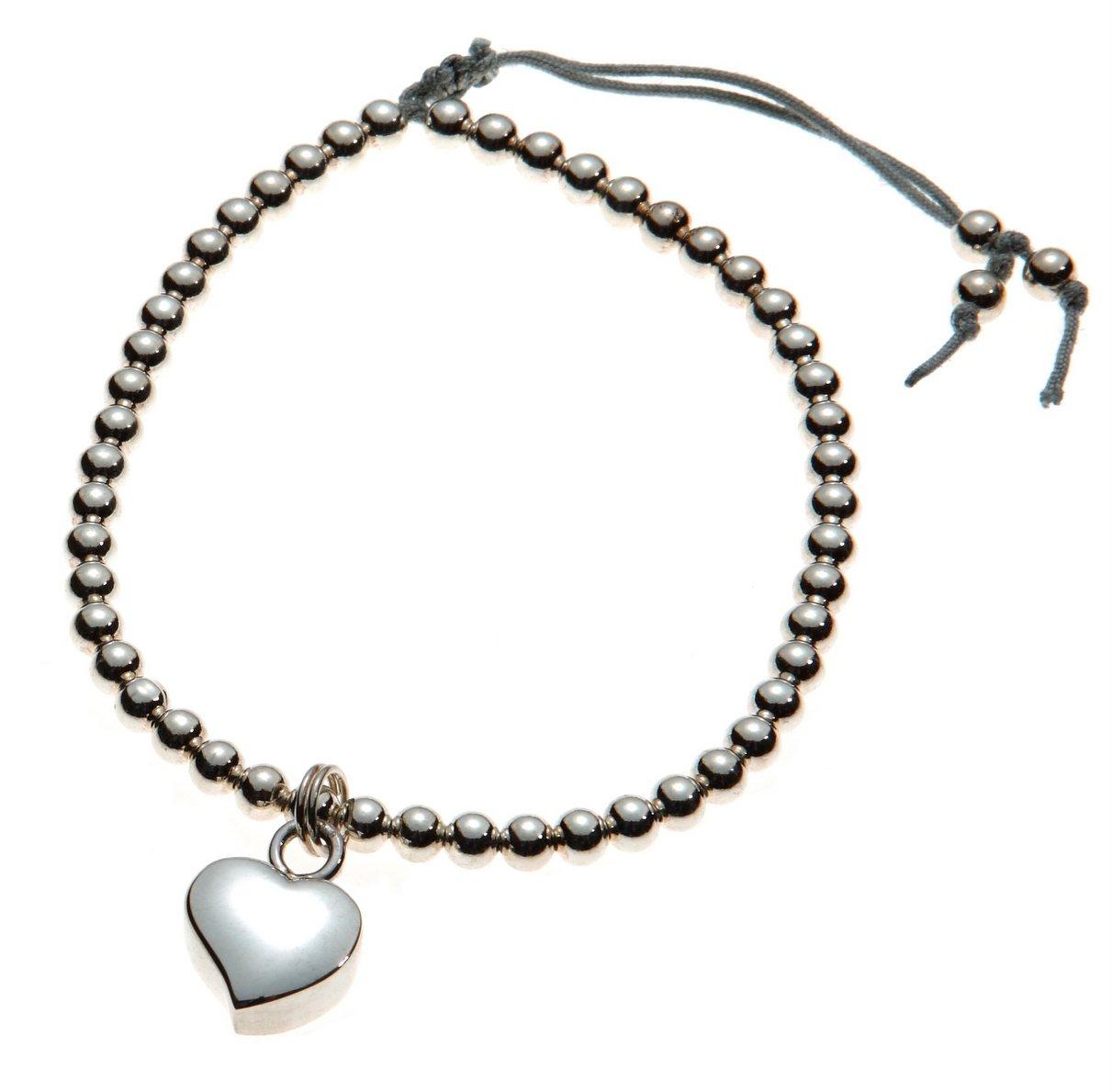 Urns UK Mayfair Freundschaft Schmuck Verbrennung Asche Armband mit Herz Charm, 925Sterling Silber