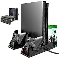 Suporte de resfriamento vertical TwiHill compatível com Xbox ONE X / Xbox ONE S / Xbox ONE normal, ventilador de…