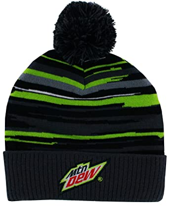 9d8692891f7 Image Unavailable. Image not available for. Color  Mountain Dew Abstract  Multi Pom Beanie Grey