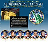 LIVING PRESIDENTS w/TRUMP 2016 Presidential Dollars 6-COIN SET 2-Sided COLOR