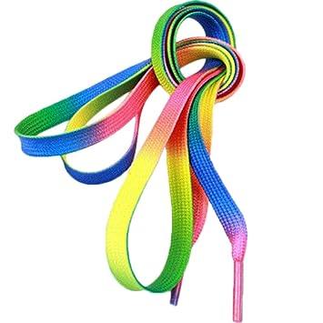 f5a85b2cf0858 Namgiy Cordones de zapatos planos de color cordones para zapatos de lona