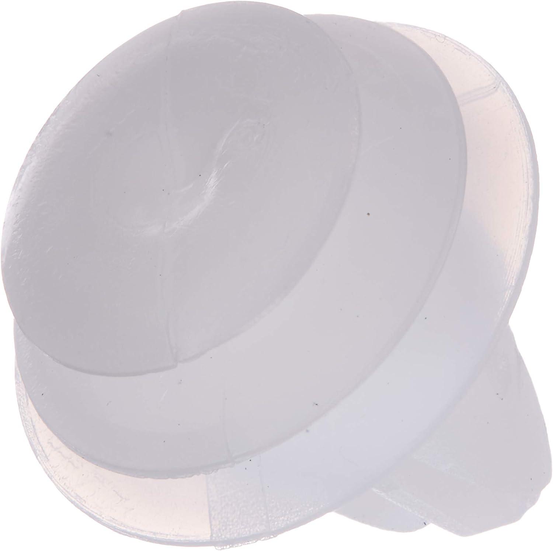 sourcingmap 50pcs 7mm Hole White Push in Rivet Car Panel Retainer Fastener