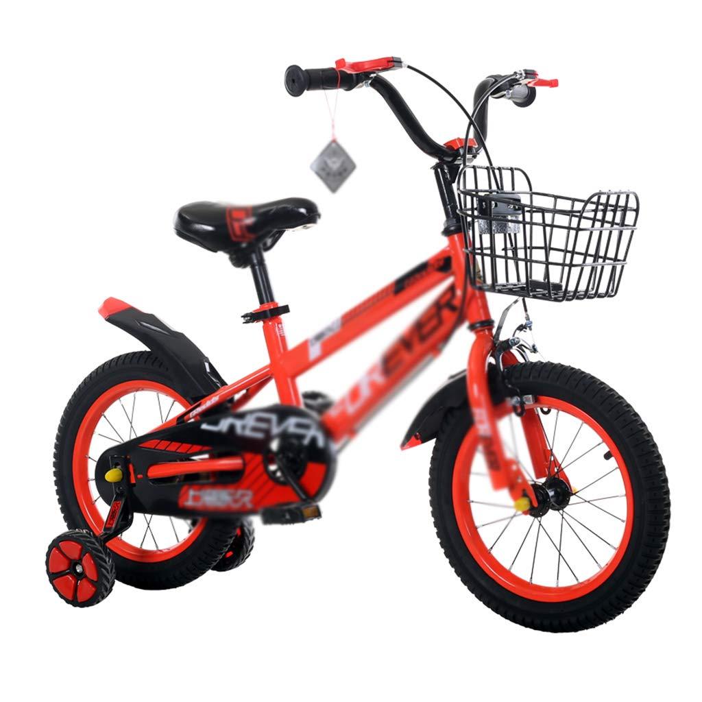 Bicicletas niños 12/14/16 montaña para niños y niñas. (Color : Orange, Size : 12inch)