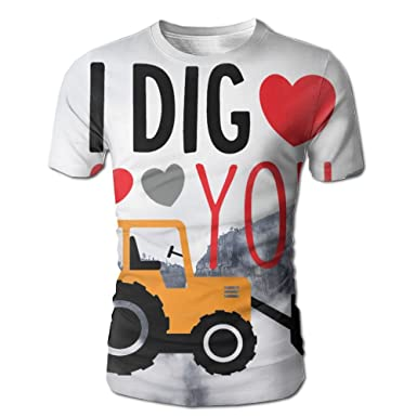 Amazon Com I Dig You Happy Valentines Day Fashion Short Sleeve With