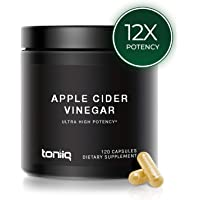 Ultra High Strength Non-GMO Apple Cider Vinegar Capsules with Mother - 2,010mg Formula - 12x Strength Pills with Cayenne Pepper - 20% Acetic Acid - 120 Capsules