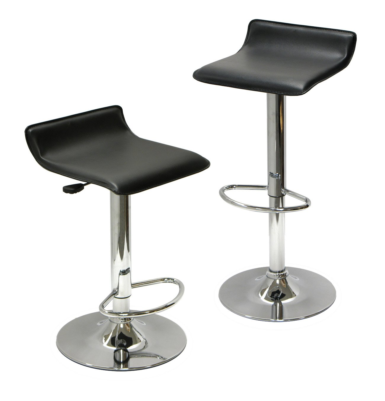Amazon.com: Winsome Wood Air Lift Adjustable Stools, Set Of 2: Kitchen U0026  Dining