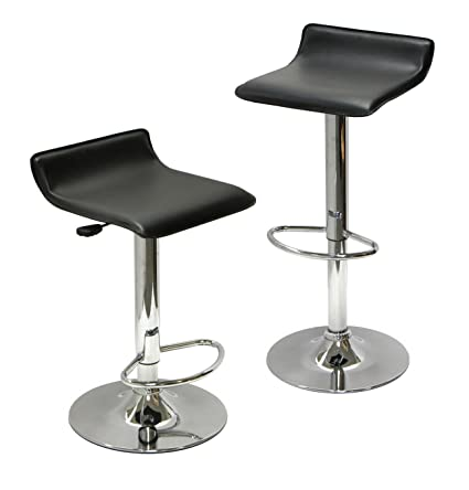 Winsome Wood Air Lift Adjustable Stools, Set Of 2