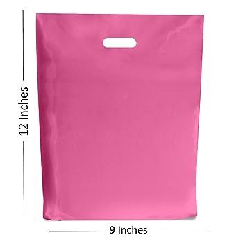 Bolsas de plástico de color rosa caliente/caja de regalo para tienda de campaña/repuesto, pequeño y grande SMALL 9x12: Amazon.es: Hogar