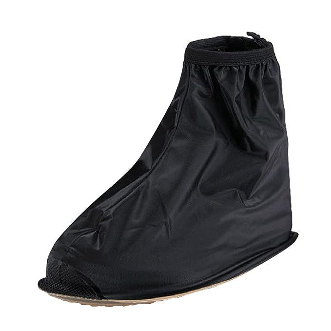 pretty nice 72999 afdff Generic Erwachsene Wiederverwendbare Wasserdichte Flache Regen Schuhe  Überschuhe Regen Galoschen Schwarz Xxl