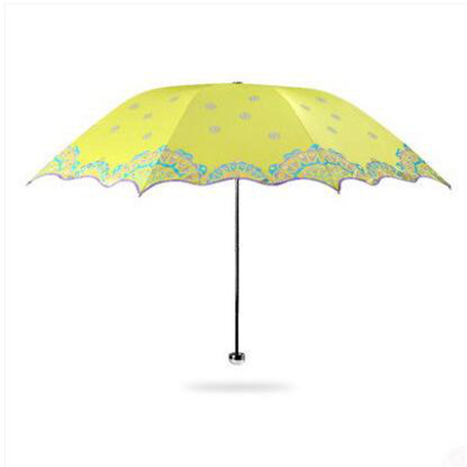 Amazon.com : Reinhar Beach Folding Sun Umbrella UV Protection Women Adults Paraguas Plegable Waterproof Sun Umbrella Big Windproof Rain Yellow : Sports & ...