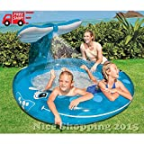 MAZIMARK-inflatable Whale Spray Pool Water Fun Outdoor Play Baby Kids Toy Summer Backyard