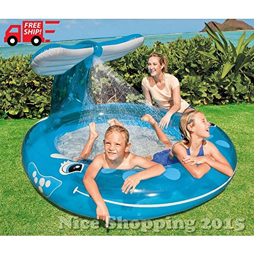 [MAZIMARK-inflatable Whale Spray Pool Water Fun Outdoor Play Baby Kids Toy Summer Backyard] (Winter Soldier Costume Ideas)