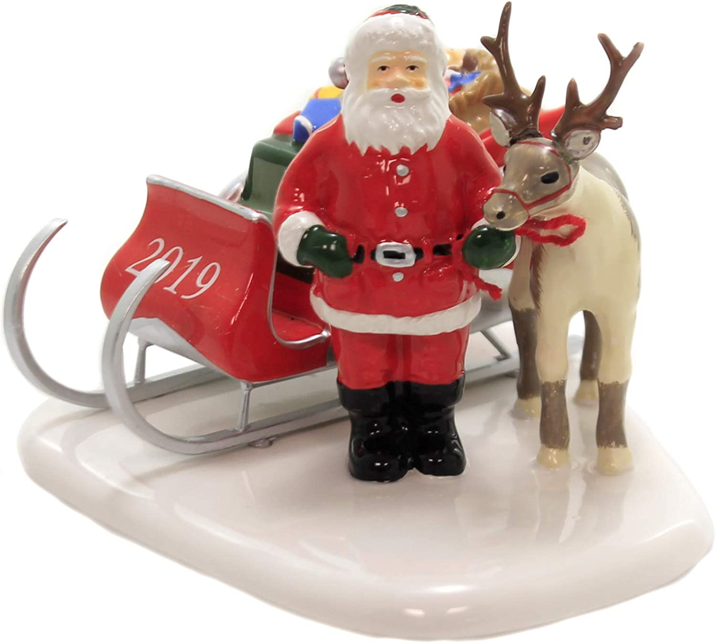 Department 56 Original Snow Village Santa Comes to Town, 2019 Figurine