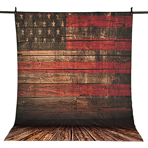 Allenjoy 5x7FT Polyester Photography Backdrops Old Color The Star-Spangled Banner Retro American Flag Background for Anniversary of American Independence - Flag Retro