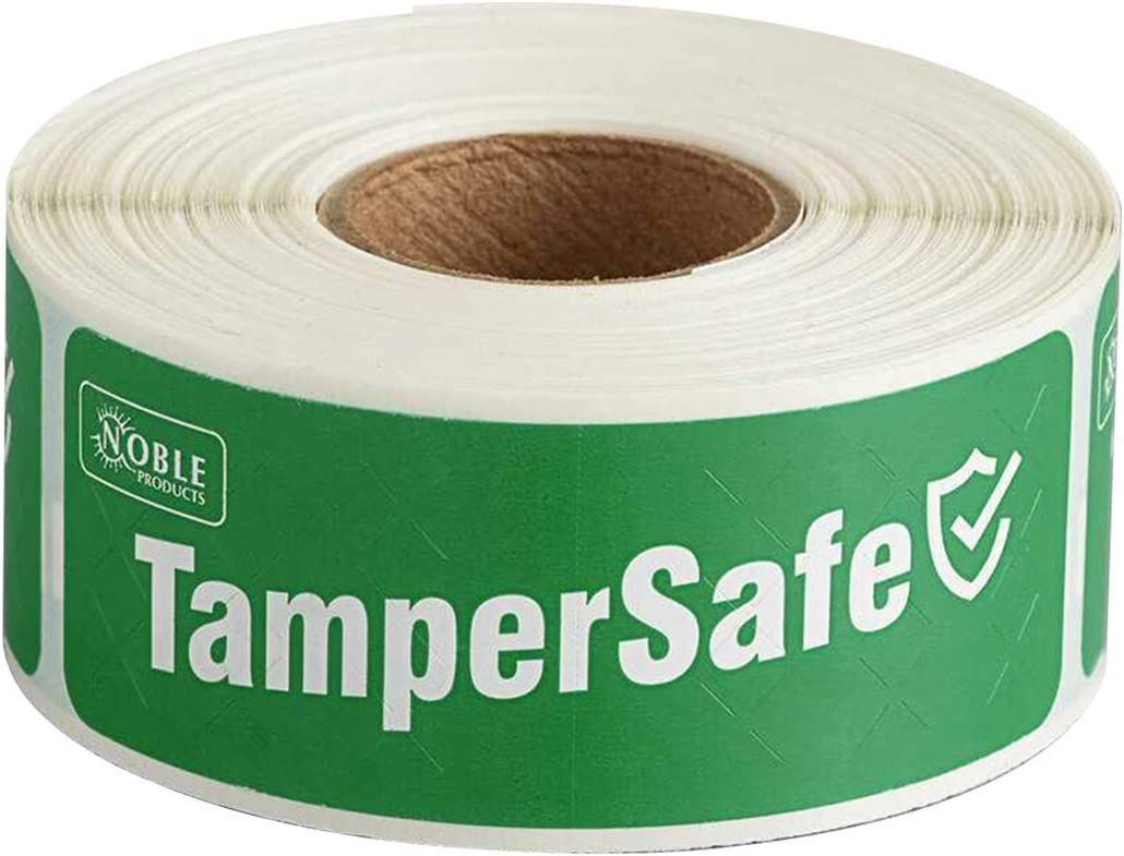 Custom Labeling - TamperSafe Tape - Tamper-Evident Label / Seal / Sticker for Food Container (1 x 3 inches)