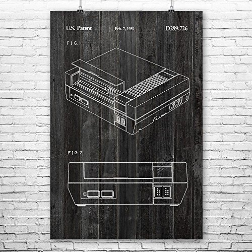Nintendo NES Video Game System Poster Art Print, Nintendo Po