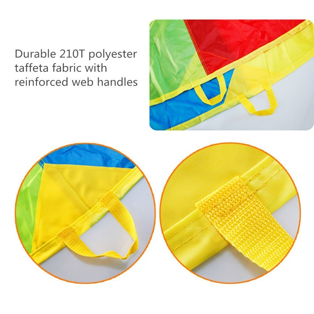 Sonyabecca Parachute, Play Parachute 20ft with 16 Handles for Kids Cooperation Group Play by Sonyabecca (Image #6)