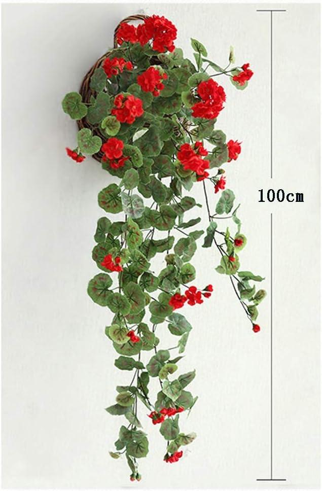 YDDZ Hiedra Artificial   Planta Artificial Flor Artificial Rota   1PCS Colgante de Pared Sala de Estar Verde Vid de Seda   Decoración de la Pared del jardín del Banquete de Boda (