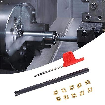 10x CCMT0602 Hartmetalleinsätze Werkzeughalter 42-45 SCLCL1010H06 Set