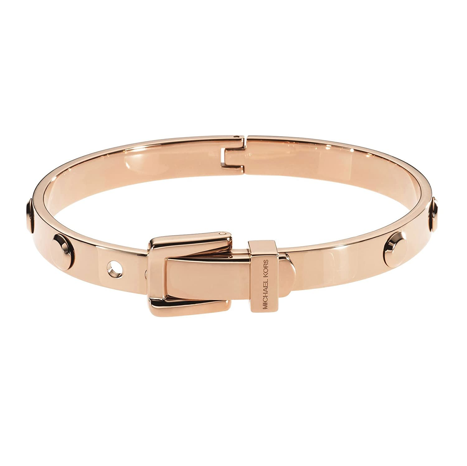 Amazoncom Michael Kors MKJ1821 Rose Gold Astor Buckle Bangle